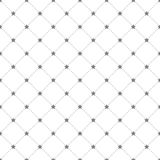 Stars and dots seamless pattern Royalty Free Stock Photos