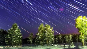 Stars draw. Zoom. Time Lapse stock video footage
