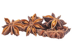 Stars of dried anise Illicium verum isolated on white background Stock Photo