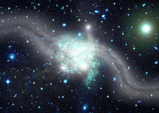 Stars, dust and gas nebula in a far galaxy Stock Images