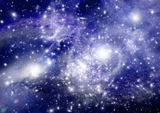 Stars, dust and gas nebula in a far galaxy Royalty Free Stock Photo