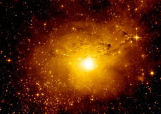 Stars, dust and gas nebula in a far galaxy. `Elements of this image furnished by NASA Royalty Free Stock Photos