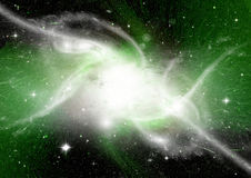 Stars, dust and gas nebula in a far galaxy Royalty Free Stock Photos