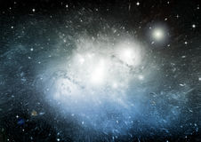 Stars, dust and gas nebula in a far galaxy Royalty Free Stock Photography