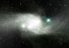 Stars, dust and gas nebula in a far galaxy Royalty Free Stock Images