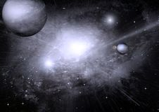 Stars, dust and gas nebula in a far galaxy. Elements of this image furnished by NASA Stock Photo