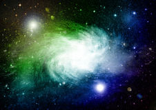 Stars, dust and gas nebula in a far galaxy. `Elements of this image furnished by NASA Royalty Free Stock Photo