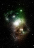 Stars, dust and gas nebula in a far galaxy. `Elements of this image furnished by NASA Royalty Free Stock Photography