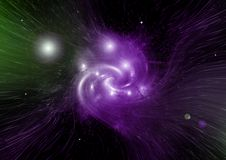 Stars, dust and gas nebula in a far galaxy. Elements of this image furnished by NASA Royalty Free Stock Images