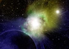 Stars, dust and gas nebula in a far galaxy. Elements of this image furnished by NASA Stock Images