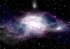 Stars, dust and gas nebula in a far galaxy. Elements of this image furnished by NASA Royalty Free Stock Photos