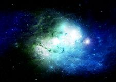 Stars, dust and gas nebula in a far galaxy. Elements of this image furnished by NASA Royalty Free Stock Photo