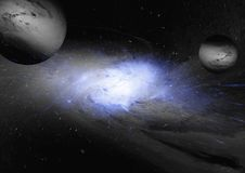 Stars, dust and gas nebula in a far galaxy. Elements of this image furnished by NASA Royalty Free Stock Photography