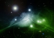 Stars, dust and gas nebula in a far galaxy. Elements of this image furnished by NASA Stock Photos