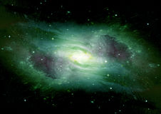 Stars, dust and gas nebula in a far galaxy. Elements of this image furnished by NASA Royalty Free Stock Image