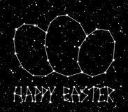 Stars easter constellation background. Easter background with the shine stars in universe Stock Image