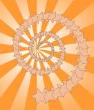 Stars el fondo ilustración del vector