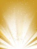 Stars el fondo de oro Imagen de archivo