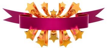 Stars emblem Stock Image