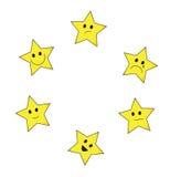 Stars emoticons Stock Image