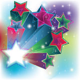 Stars estrude for an energy card background Stock Images