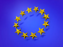 Stars of the European Union. Stock Image