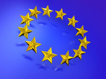 Stars of the European Union. Royalty Free Stock Photos