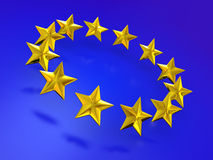 Stars of the European Union. Royalty Free Stock Image