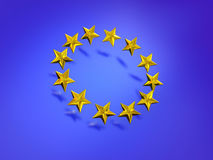 Stars of the European Union. Royalty Free Stock Photo