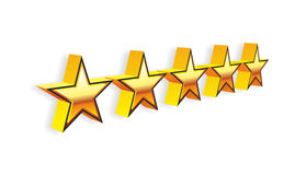Stars. For evaluation of a hotel or restaurant Royalty Free Stock Photography