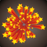 Stars explosion Royalty Free Stock Image