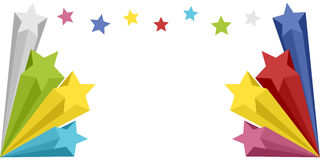 Stars Explosion Banner Stock Photo