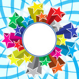 Stars explosion banner. Colorful stars explosion banner background royalty free illustration