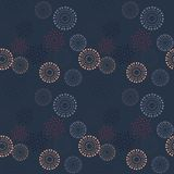 Stars explosion fire work seamless pattern. Suitable for screen, print and other media Stock Images
