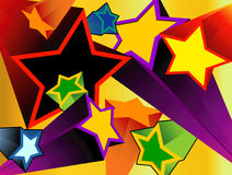 Stars explosions Royalty Free Stock Photography