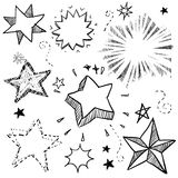 Stars and explosions illustration Stock Photography