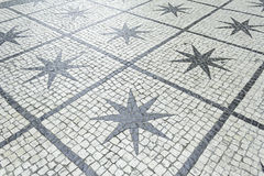 Stars in external tiles Stock Photo