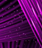 Stars are falling on the background of purple rays. Stock Photo