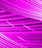 Stars are falling on the background of purple rays. Stock Image