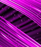 Stars are falling on the background of purple rays. Stock Photos