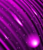 Stars are falling on the background of purple rays. Royalty Free Stock Photos