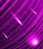 Stars are falling on the background of purple rays. Royalty Free Stock Images