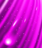 Stars are falling on the background of purple rays. Stock Photography