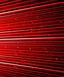 Stars are falling on the background of red rays. Stock Photography
