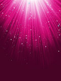 Stars are falling on purple luminous rays. EPS 8 Royalty Free Stock Photos