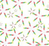 Stars feather seamless pattern Stock Photos