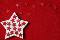 Stars on felt background Stock Images