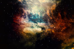 Stars field of space in the universe Stock Photos