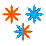 Stars. Fire and water. Set of stylized stars on a white background. Symbolize fire and water Royalty Free Stock Image