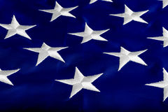 Stars on the flag states. Beautifully embroidered stars on the flag states Royalty Free Stock Photography
